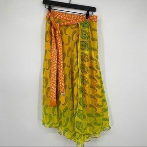 Wrap skirt boho chic bohemian festival medium